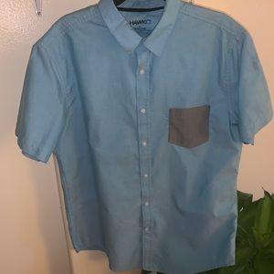 Tony Hawk Men's XL Button Front Collared Shirt